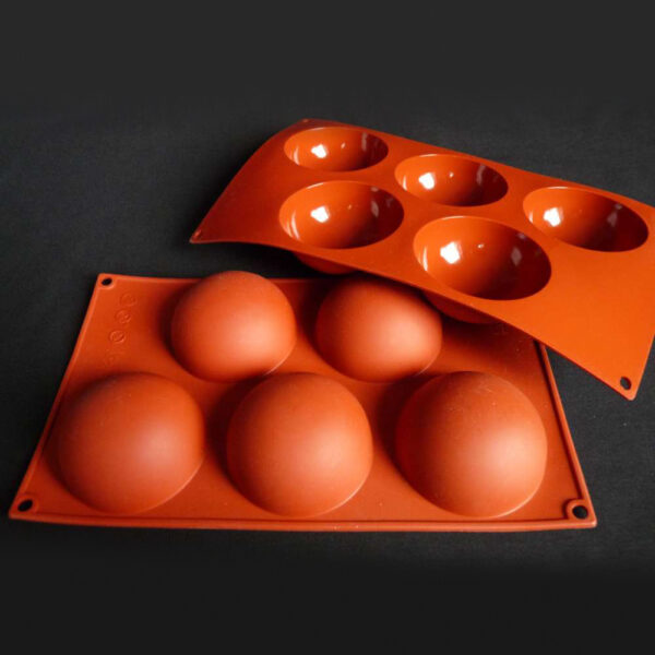 moule silicone 5 demi spheres