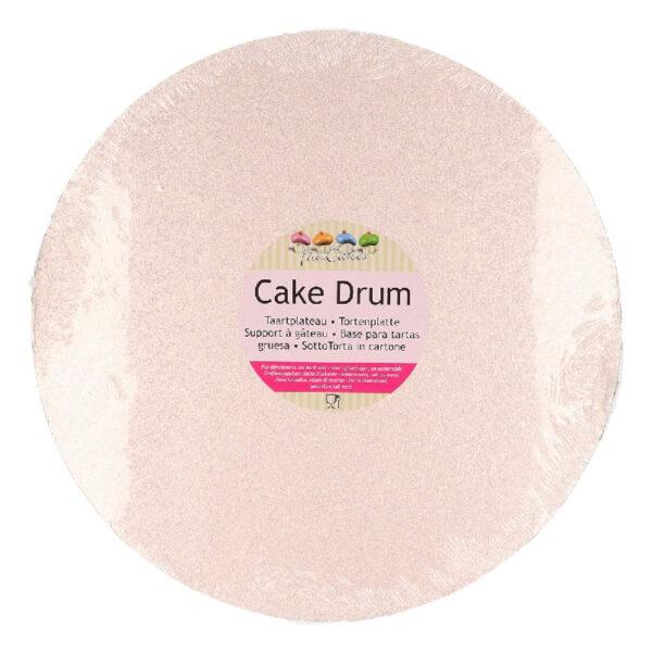 cake drum rond rose