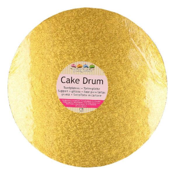 cake drum rond argent